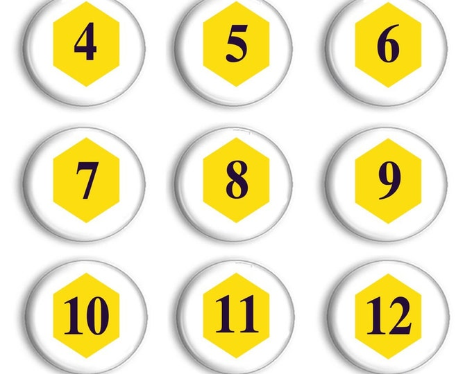 Montessori Number Magnets - Montessori Math - Number Practice - Number Match - Learning - Education - Classroom Set Up - Bumblebee