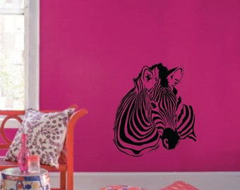 """Large Wall Zebra Pattern Nursery Girls Room Decor Decal Removable 1149 (29"""" wide x 33"""" high)"""