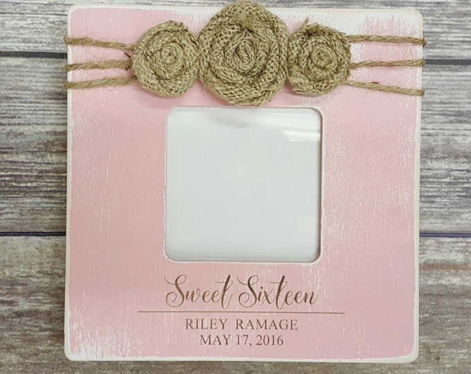 Sweet Sixteen - Personalized Photo Frame - Birthday Picture Frame - Birthday Gift