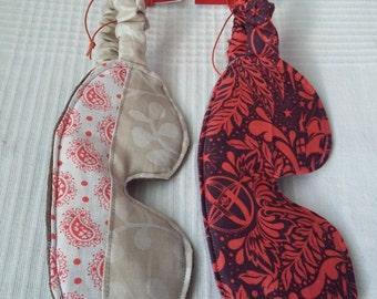 Sleep mask-cotton and merino wool