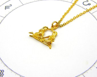 Gemini Necklace Gemini zodiac necklace gold Gemini necklace for women delicate necklace dainty necklace  zodiac constellation necklace