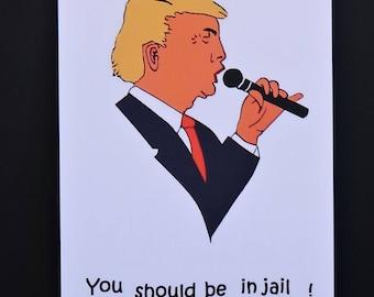 Donald Trump humoristique cartes postales (Pack de 2)