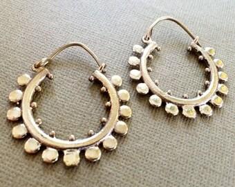 Bohemian earrings,Gold Hoop earrings,Boho Jewelry,gypsy EARRINGS,Tribal Brass earrings,minimalistic, earrings,jewelry burning man ZH0525