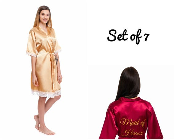and robes Plus Satin Cheap of girl set robes robes size Lace Bridesmaid Under robes robes 7 robes 20 Personalized robes Bride Flower dwxaIT