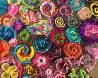 FreeForm Crochet 12 piece scramble handmade.