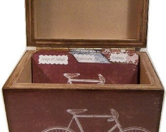 Recipe Tab Dividers Made To Order Coordinates with my Red Bicycle Recipe Box 4 x 6 4 by 6 (Set of 6)