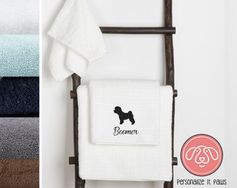 Bichon Frise Embroidered Towel