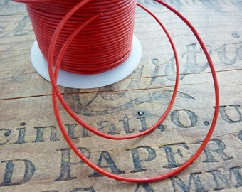Leather Cord Quality Cherry Red 1.5mm