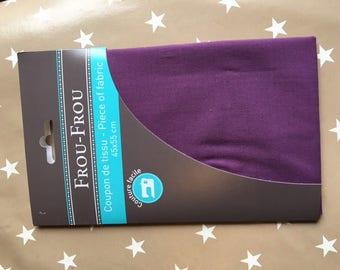 Purple fabric FROU-FROU 45/55 cm