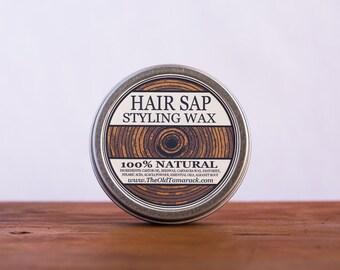 HAIR SAP (Unscented) - Natural Organic Styling Wax, Matte