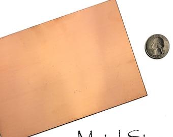 "Copper Sheet - 18 gauge - 4"" x 6"""