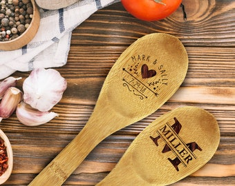 Bamboo Spoons, Wooden Spoon Engraved, Baking Party Favor Kids, Party Favors Cookout, Chili Cook Off Trophy, Wedding Shower Gift, Chef Gift