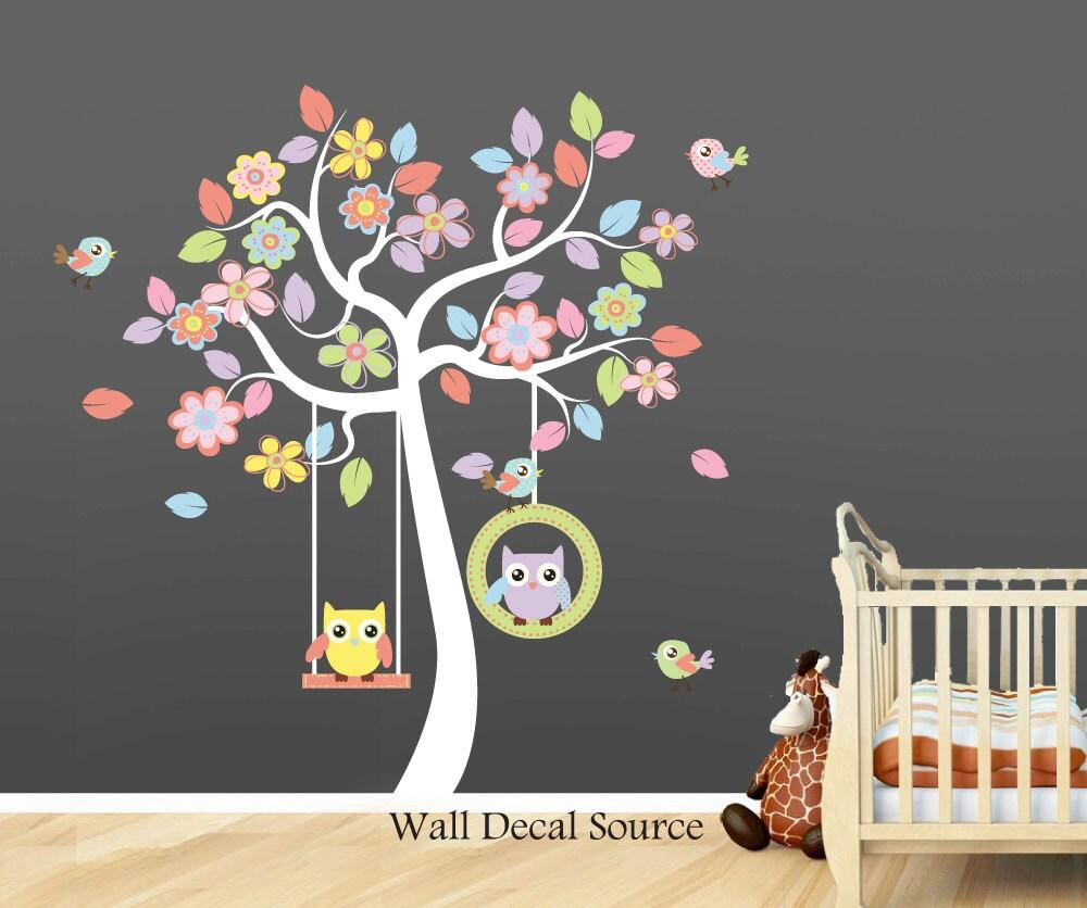 ?zoom & Nursery Wall Decal - Owl Wall Decal - Baby - Vinyl Sticker