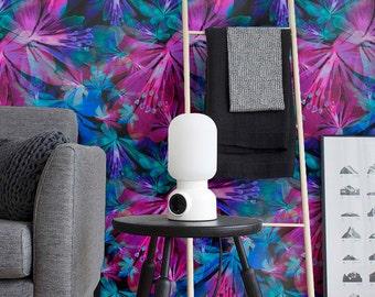 Cosmic Seamless Flower Pattern Wallpaper, Removable Wallpaper, Peel & Stick Wallpaper, Wall Decal, Self Adhesive Vinyl Wallpaper, 285