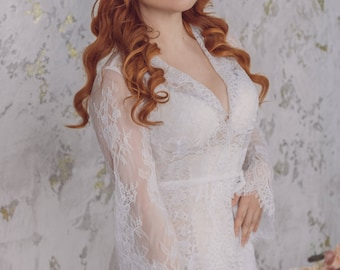 Lacy peignoir wedding luxury lingerie