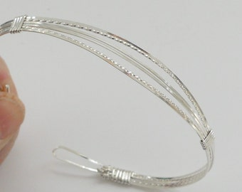 Sterling Silver Bracelet Square and Twisted