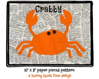 Crabby Paper Pieced Pattern