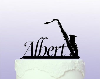 Personalised Saxophone Cake Topper