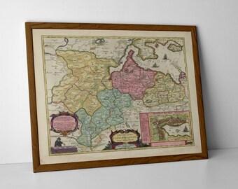 Old Map of Flensburg, Schleswig-Holstein | Old Map of North Germany – Ostsee, Handewitt, Tarp, Böklund, Sörup, Langballig, Husby, Wallsbüll