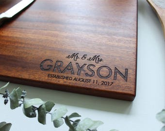 Personalized Cutting Board, Christmas Gift, Gift For Her, Wedding Gift,  Anniversary Gift, Housewarming Gift, Bridal Shower, Engagement Gift