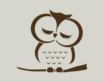 OWL stencil. Owl drawing (ref 406)