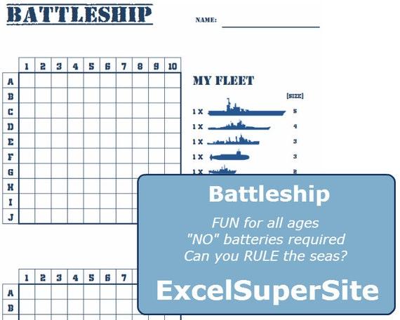 Printable Battleship Who Will Rule The Seas