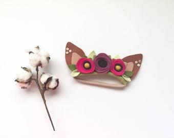 Deer Headband, Deer Ears, Fawn Headband, Deer Headband, Infant Deer Ears, Jewel Tone Deer Ears