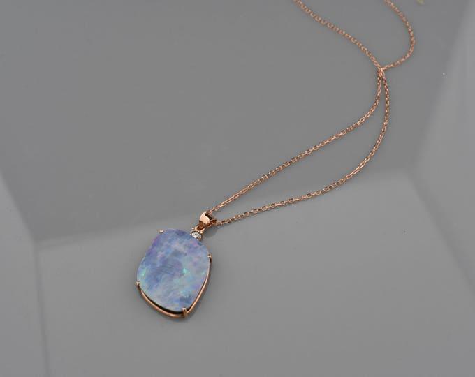 Rose Gold Opal pendant!