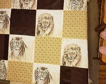 Wild Cat Block Quilt
