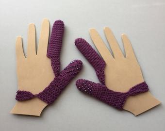 Dermatillomania Thumb and Finger Guard -Skin Picking Guard - Excoriation Disorder - Long Term Bandage - Purple - Customized set of 2- Custom