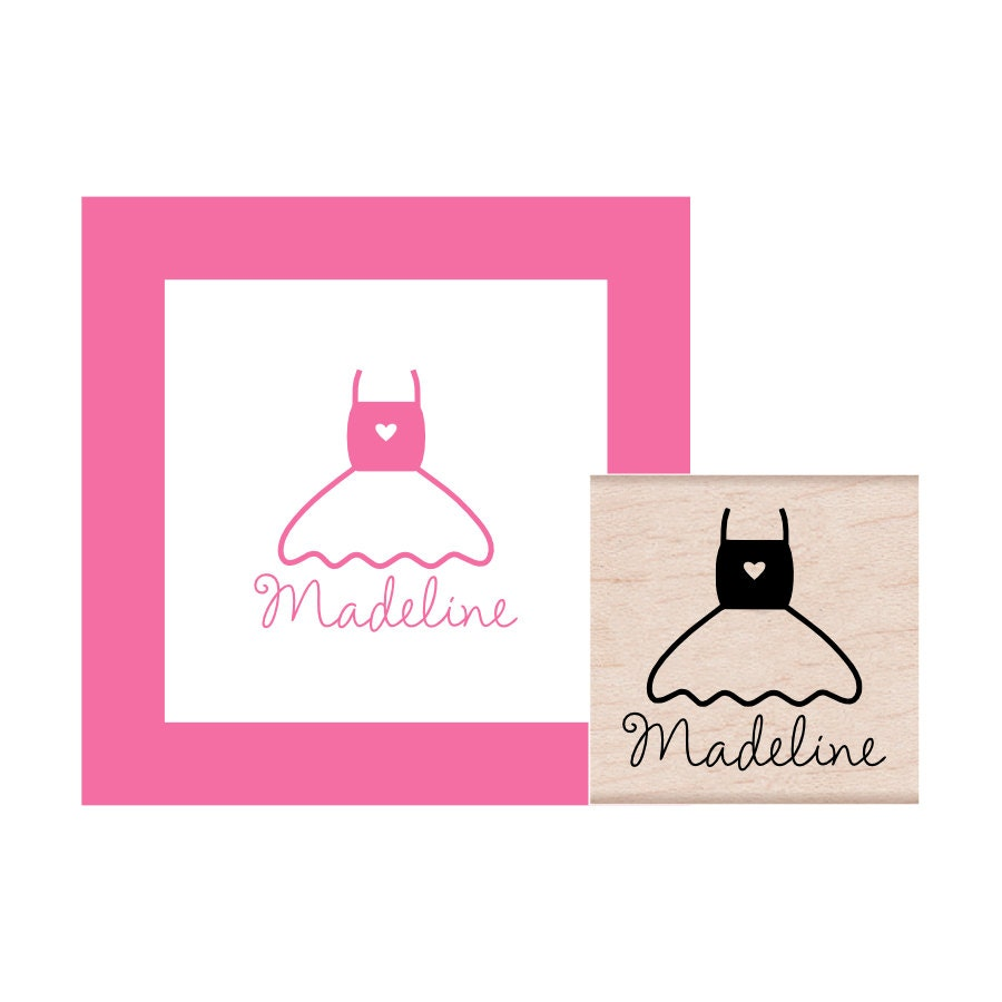 Ballet Tutu Personalized Rubber Stamp