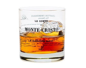 Count of Monte Cristo - Literature Rocks Glass