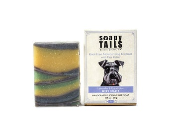 Soapy Tails Wiry Coat ~  Lavender & Eucalyptus 4.75 oz.- Dog Shampoo Bar Soap