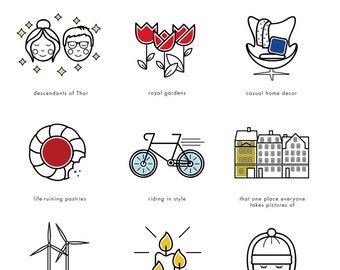 Guide illustré pour impression de Copenhague