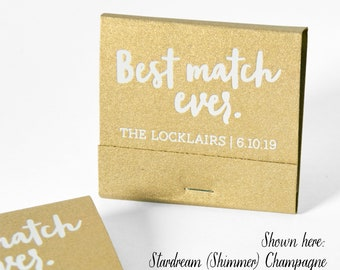 BEST MATCH EVER Matchbooks - Wedding Favors, Wedding Matches, Personalized Matches, Custom Matchbooks, Engagement Party Favor, Wedding Decor