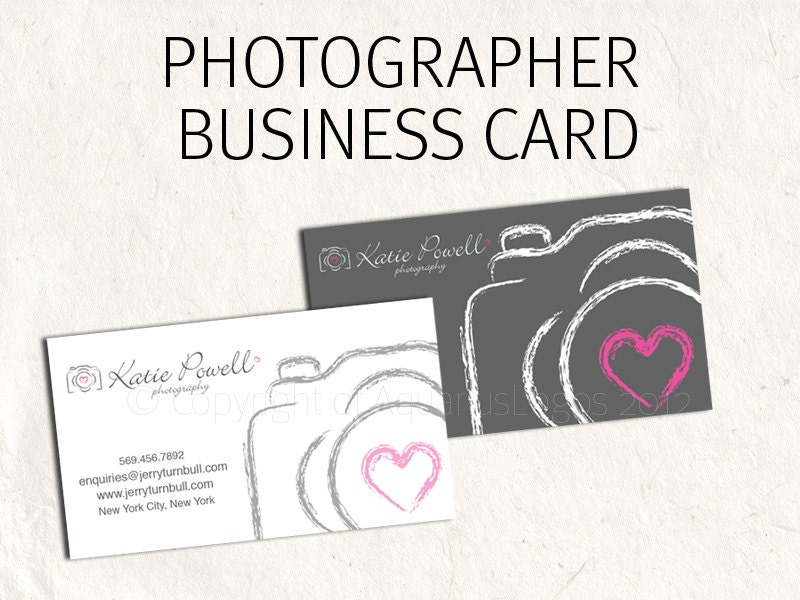Photography business card business card design sketched zoom reheart Gallery