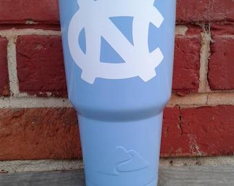 NC blue powder coated tumbler