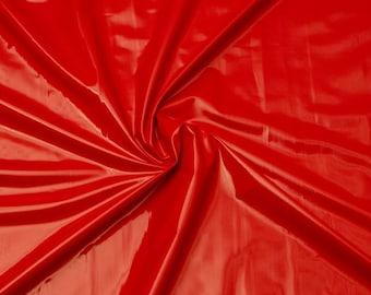 Patent Vinyl Fabric: Red