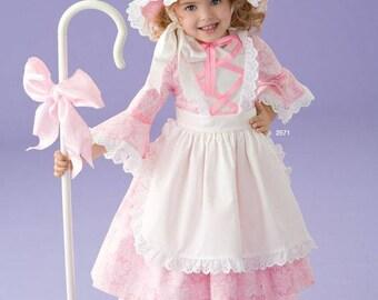 Toddler Handmade Costume / Little Bo Peep Costume / Handmade Fairy Tale Costume / Girls Halloween Costume / Purim Costume / Toddlers Costume