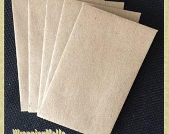 "25 -2.25""x3.75"" Mini  Kraft Envelopes, Business Card Envelopes, Money Card Envelopes, Gift Card Envelopes, Cash Giving Envelopes"