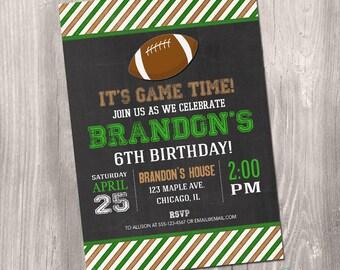 Football Invitation, Football birthday invitation, Football Printable Invite, Football party, sports invites, digital, Printable Invitation