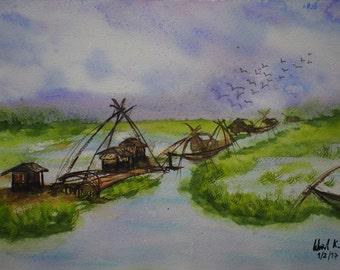 Peaceful Morning (Original painting)