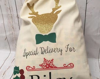 SANTA SACK- CHRISTMAS sack- Personalised Sack- Christmas stocking
