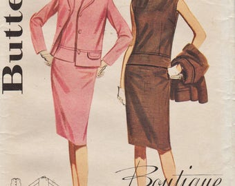 Butterick 3041 / Vintage 60s Sewing Pattern / Blouse Skirt Jacket Suit / Size 16 Bust 36