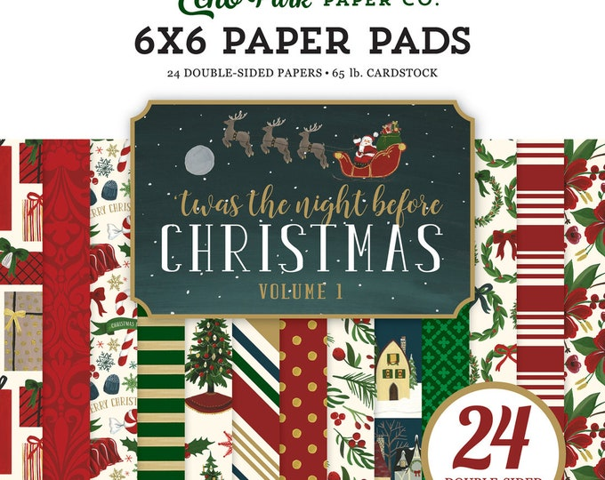 Echo Park Paper 'Twas the Night Before Christmas - Vol. 1 - 6x6 Scrapbook Paper Pad
