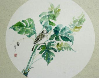 Bird | Tree | Chinese Painting | Ink and Color on Rice Paper