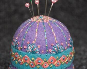 Made to order - Spring Garden Large Bottlecap Pincushion free usa ship