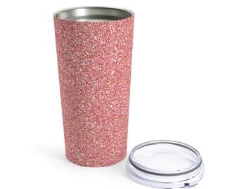 Pink Glitter Printed Tumbler 20Oz