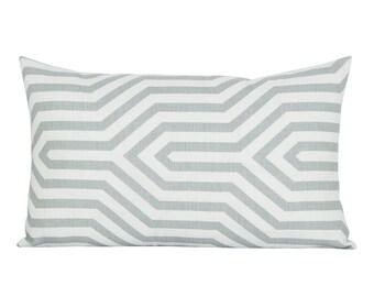 Vanderbilt Print lumbar pillow cover in Grisaille