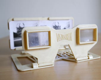 Vintage Vistascreen stereoscope, 3D picture viewer, 1950's